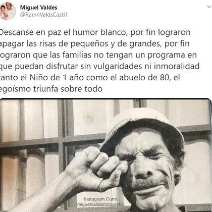 El mensaje que publicó Miguel Valdés