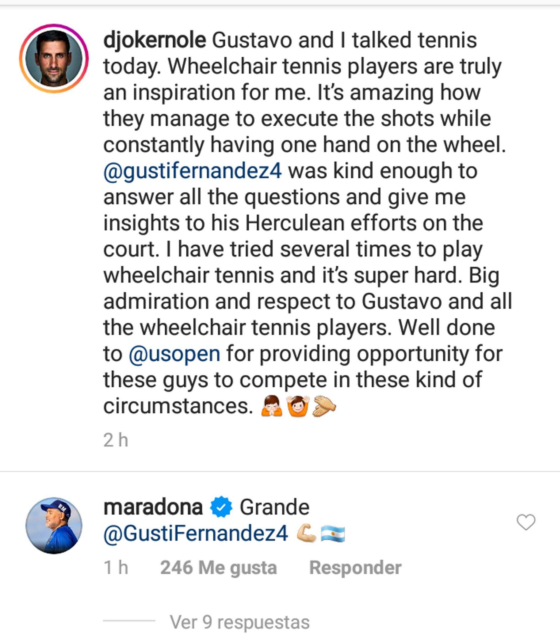 El mensaje de Maradona a Gustavo Fernández