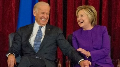 Mandatory Credit: Photo by Shutterstock (7552886y)Joe Biden, Hillary ClintonSenator Harry Reid portrait unveiling, Washington DC, USA - 08 Dec 2016Ceremony where the official portrait of US Senate Minority Leader Harry Reid (Democrat of Nevada) is to be unveiled in the Kennedy Caucus Room on Capitol Hill