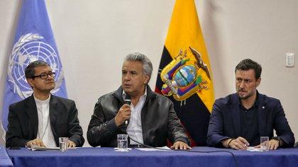 "Nicolás Maduro tildó de ""estúpido"" a Lenín Moreno (AFP)"