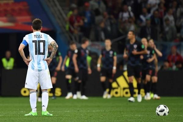 Messi todavía no pudo convertir en la Copa del Mundo (AFP)