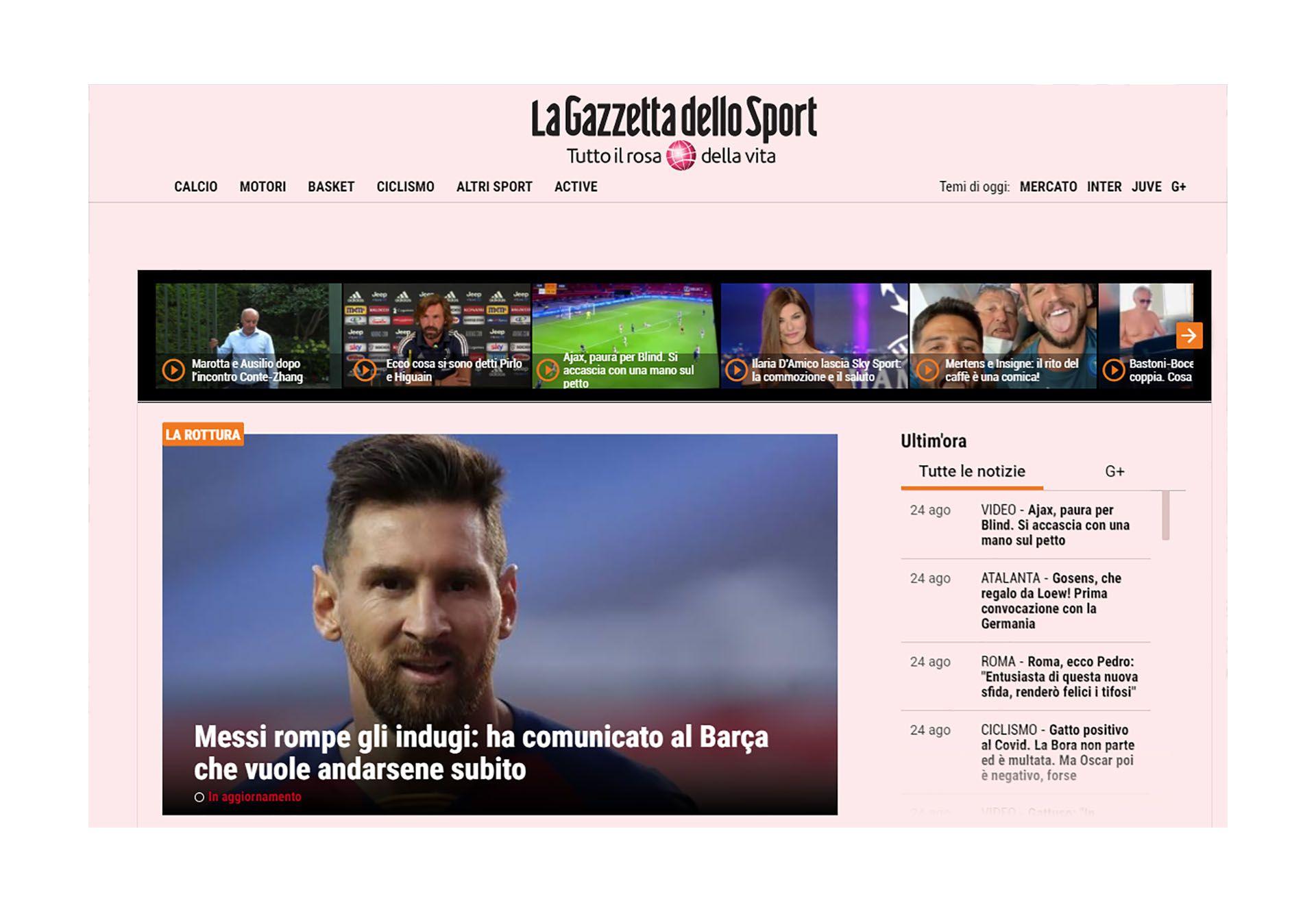 Lionel Messi Barcelona portadas