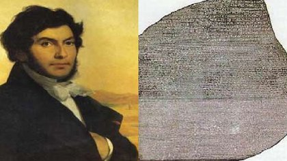Jean-François Champollion. A los 32 años logró descifrar la compleja escritura jeroglífica del Egipto antiguo, estudiando la Piedra de Rosetta