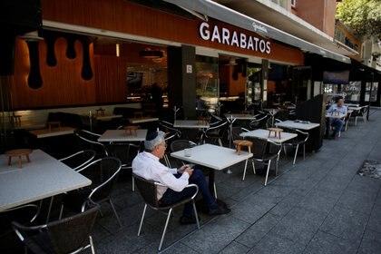 Restaurantes vacíos en Polanco, Ciudad de México, durante la segunda fase de contingencia por coronavirus (Foto: Gustavo Graf/ Reuters)