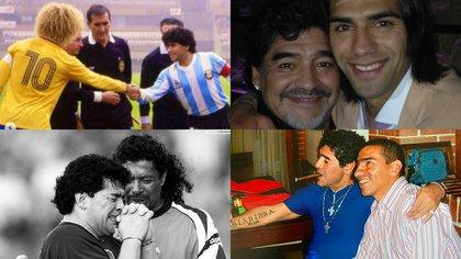"""Rene Higuita despide a su """"loco"""" amigo y Falcao le dice adiós a su ídolo, las reacciones de los futbolistas colombianos a la muerte de Diego Armando Maradona"""
