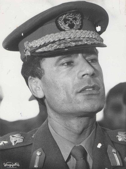 El dictador libio Muammar Gadafi durante los años 70.