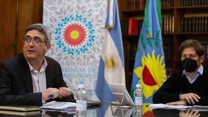 El gobernador de la provincia de Buenos Aires y el ministro de Desarrollo Agrario, encabezaron la reunión por videoconferencia con los integrantes de la Mesa Agropecuaria provincial
