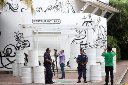 El restaurante en Puerto Vallarta donde fueron secuestrados los chapitos (Foto: EFE)