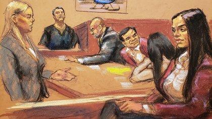 El juicio del Chapo es uno de los primeros casos de alto nivel que llevó como defensora Mariel Colon Miro (Foto: Archivo/EFE)