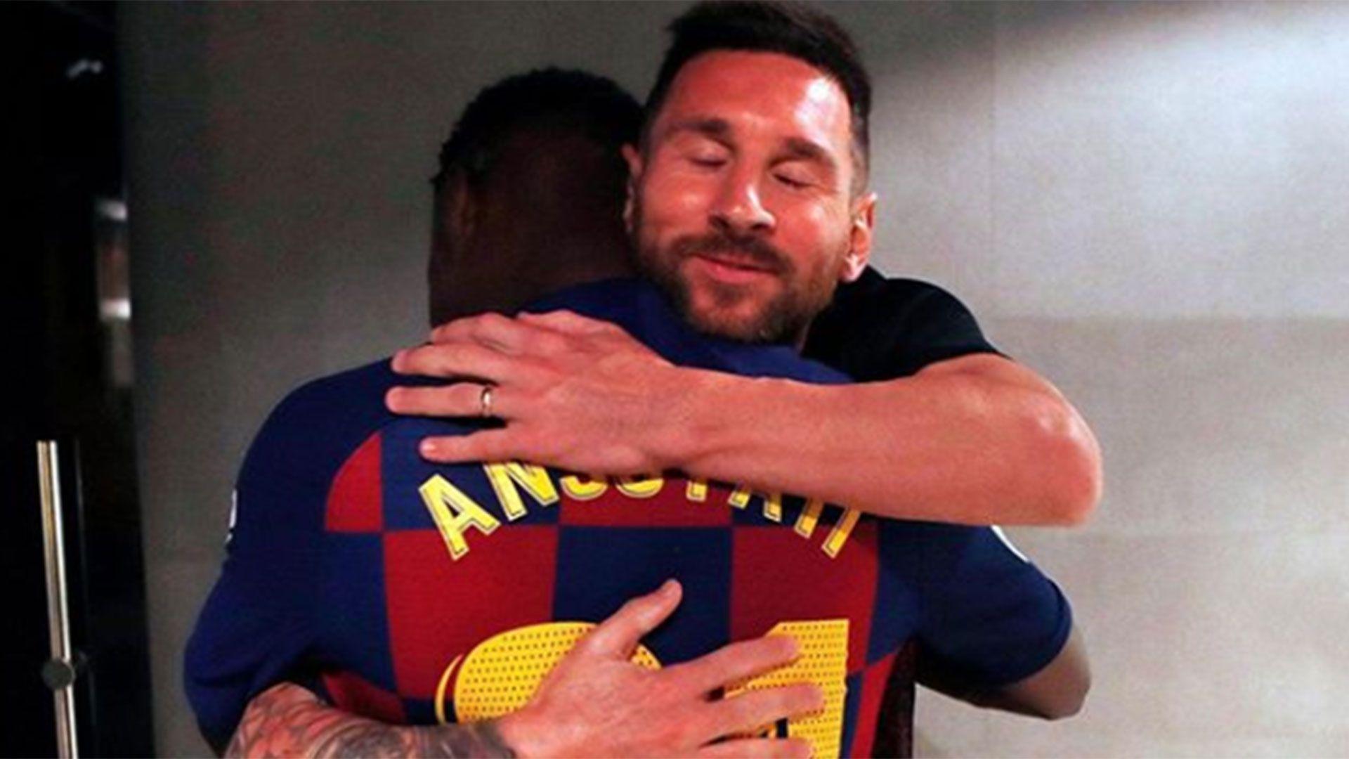 Lionel Messi publicó una foto con Fati el día de su debut con el primer equipo