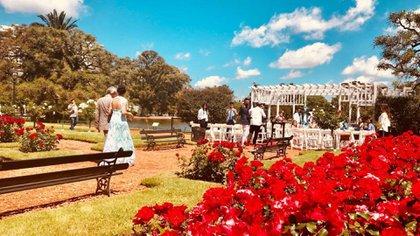 El Rosedal de Palermo, uno de los lugares más elegidos para celebrar bodas emblemáticas