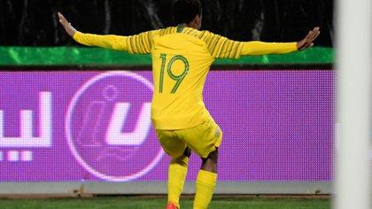 (AFP) Tau convirtió los dos goles de Sudáfrica