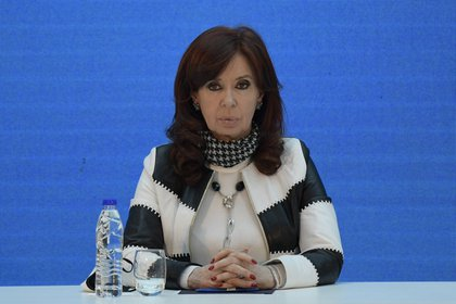 La vicepresidenta Cristina Kirchner. EFE/EPA/Juan Mabromata / Archivo