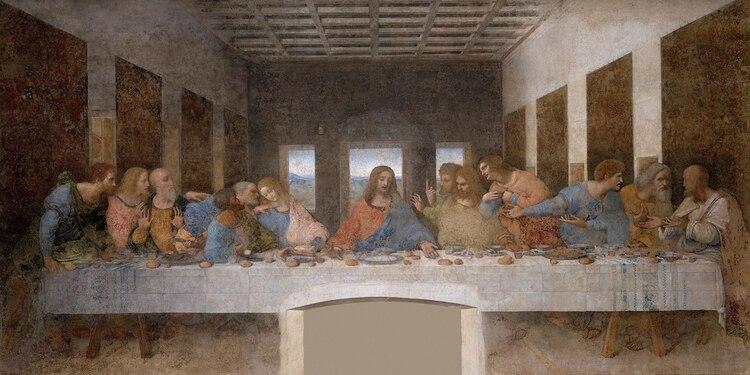 El mural de la última cena, obra de Leonardo en el convento Santa María delle grazie de Milán