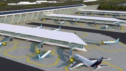 Así luciría el proyecto en Santa Lucía, pero su construcción se detuvo debido a los amparos interpuestos contra el aeropuerto (Foto: Especial)