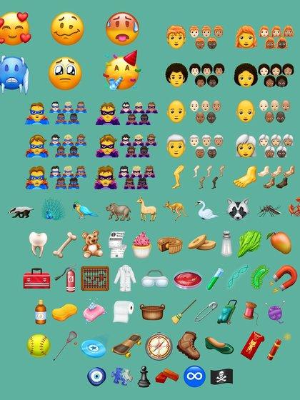 Algunos de los emojis que se incorporaron en el último año