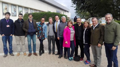 Parlamentarios chilenos de visita en Israel. Foto: Gastón Saidman