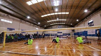 Un partido de Goalball en los Juegos Evita de Mar del Plata (Rodrigo Ruiz Ciancia – Secretaría de Deportes de la Nación)