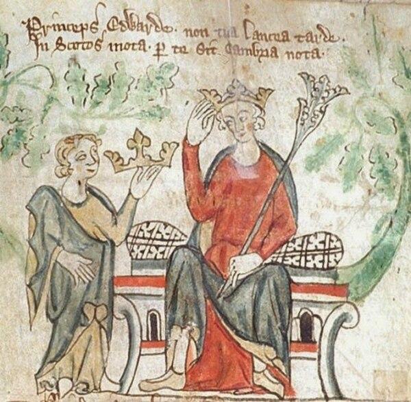 Una pintura ilustra al rey Edward II con uno de sus favoritos, Hugh Despenser (Archivo)