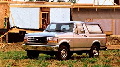 La última Bronco, que salió en 1992 y se discontinuó en 1996.