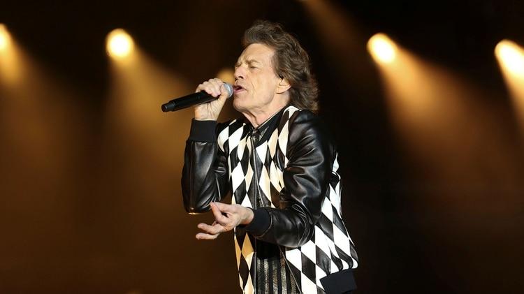 Mick Jagger en pleno show