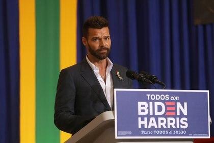 Discurso de Ricky Martin en apoyo a Biden (Reuters)