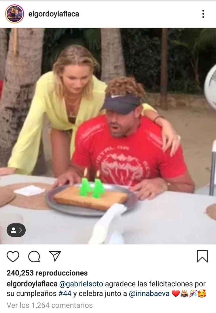 Irina Baeva acompañó a Gabriel Soto en su cumpleaños (Instagram El Gordo y la Flaca)