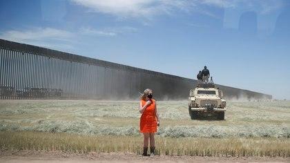 """""""He construido el muro y ha ayudado al 100 % (...) Ha detenido la COVID, lo ha detenido todo"""", afirmó el mandatario (Foto: Reuters/Carlos Barria)"""