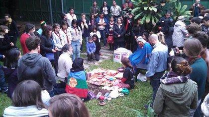 En pleno barrio de Monserrat, también se lleva a cabo esta ancestral ceremonia.