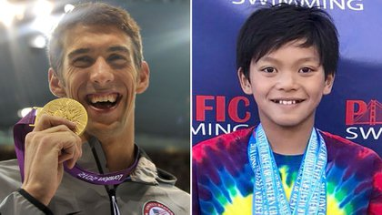 Un récord de Michael Phelps de 1995 fue superado por un niño llamado Clark Kent