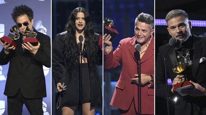 Andrés Calamaro, Rosalia, Alejandro Sanz y Pedro Capó, los más ganadores de la noche de los Latin Grammy 2019