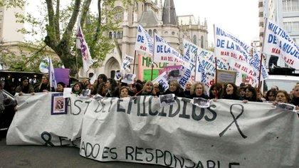 La marcha en Mar del Plata (Télam)