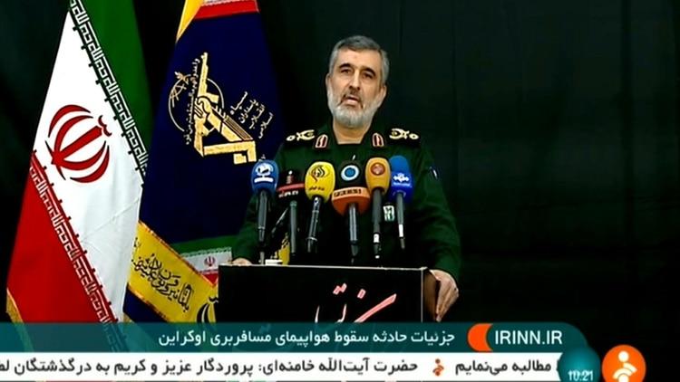 El jefe de la Fuerza Aeroespacial de la Guardia Revolucionaria, Amir Ali Hajizadeh