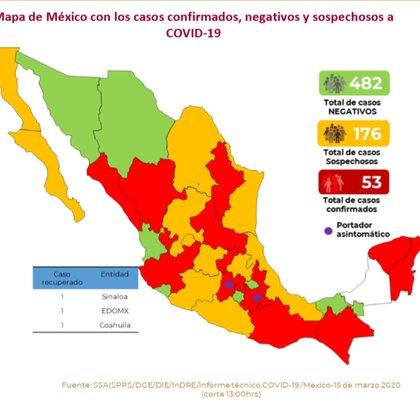 El número de casos sospechosos llegó a los 176 (Foto: Secretaría de Salud de México)