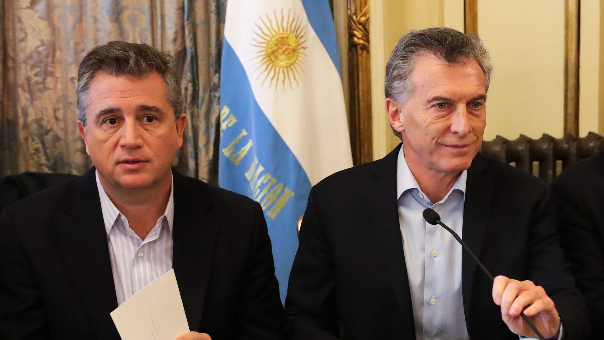 Luis Miguel Etchevehere y Mauricio Macri
