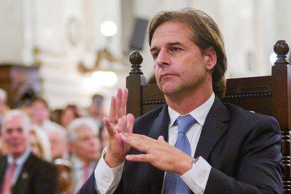 El presidente de Uruguay, Luis Lacalle Pou (REUTERS/Andres)
