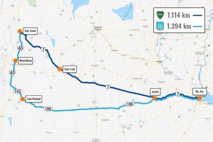 Casi 300 kilómetros y cuatro horas de más, con despliegue de fuerzas de seguridad por seis provincias para evitar que las hinchadas de Boca y Racing se cruzaran en la ruta