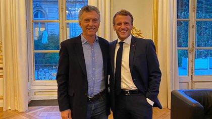 Mauricio Macri visitó a Emmanuel Macron en París antes de regresar a Buenos Aires