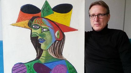 """Arthur Brand y """"Busto de mujer"""", del artista español Pablo Picasso"""
