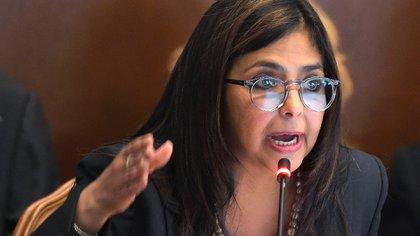 La vicepresidenta de la dictadura de Venezuela, Delcy Rodríguez