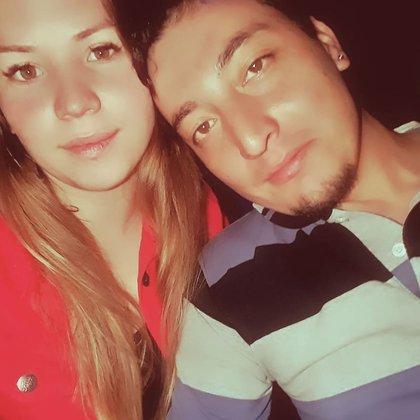 La víctima y el femicida. Guadalupe Curual y Bautista Quintrinqueo, cuando eran pareja