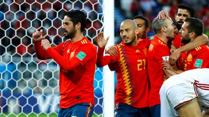 Isco celebra su gol
