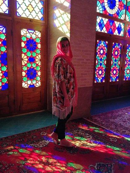 """En Irán, según Paula, """" un país amigable y con magníficas vistas"""""""