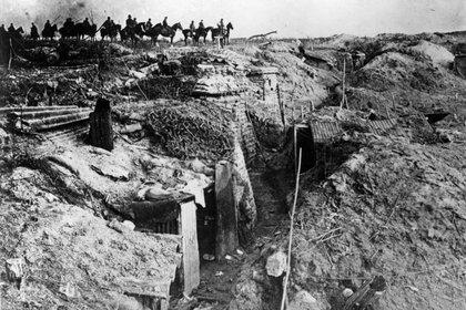 Trincheras en Francia en 1918