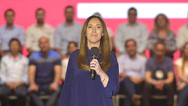 La gobernadora María Eugenia Vidal en el cierre de su campaña (Gustavo Gavotti)
