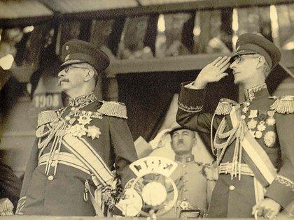Los dictadores venezolanos Juan Vicente Gómez y Eleazar López Contreras