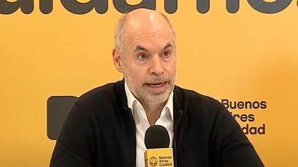 El jefe de Gobierno porteño Horacio Rodríguez Larreta