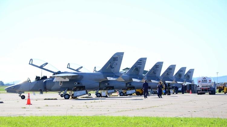 Aviones IA-63 Pampa de la Fuerza Aérea. Foto:Gentileza Fuerza Aérea.