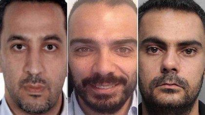Hassan Mansour, Ghassan Diab y Mohammad Ammar