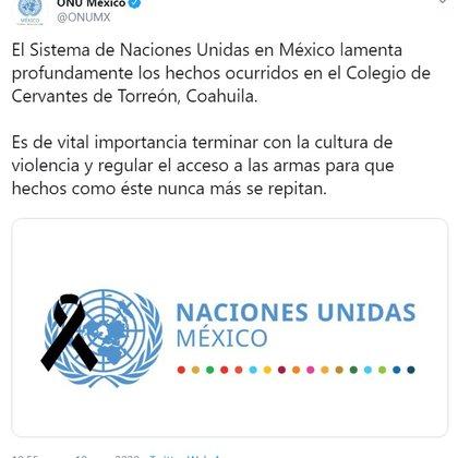 La ONU lamentó los hechos que surgieron en el Colegio Cervantes